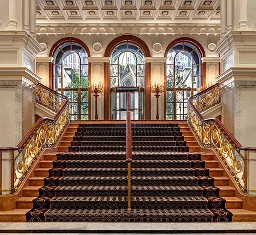 grand staircase of lotte lobby