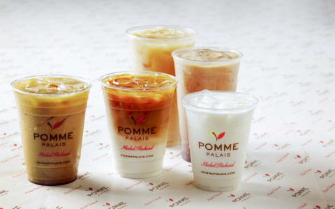 Refreshing ice coffee at Pomme Palais