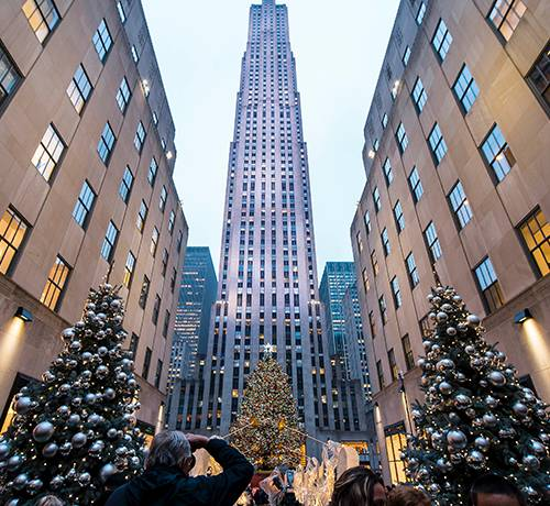christmas tree at rockefeller plazs