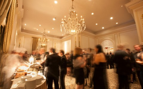Elegant black tie wedding reception in the Reid Salon.