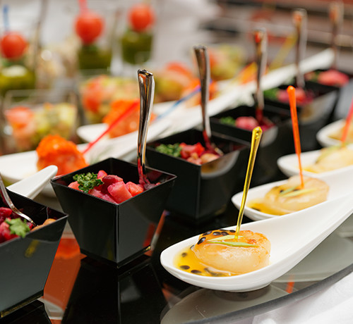 elegant catered snacks