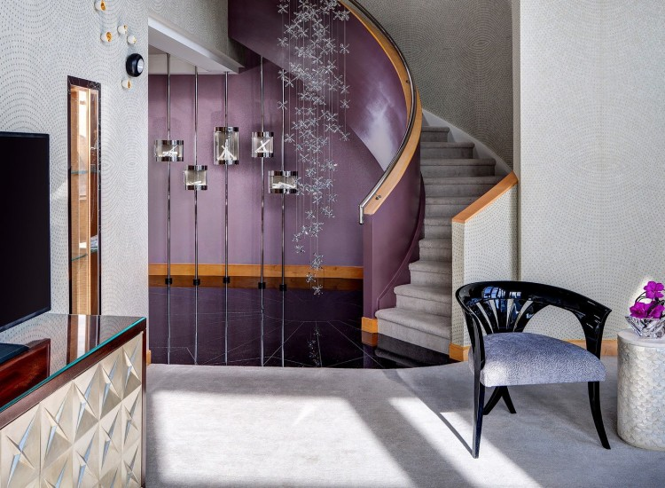 purple stairwell