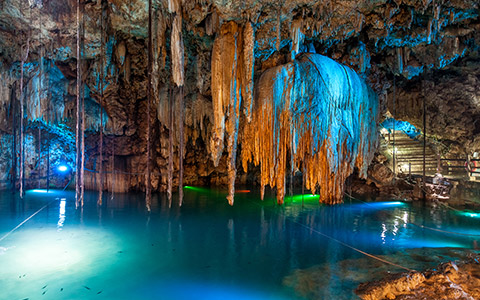 caverns with water