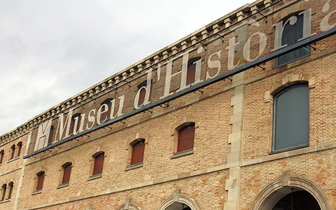 history museum signage on top of the outside of the building