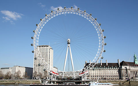 giant ferris wheel is the london eye