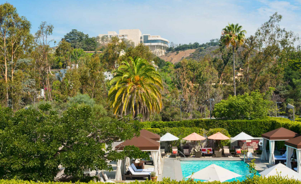 Nestled on 7 acres of lush green mountainside, Luxe Sunset Blvd hotel is your hidden oasis within the city. Inset