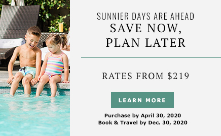sunnier days are ahead save now, plan later rates from $219