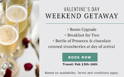 click to book valentine's day weekend getaway package