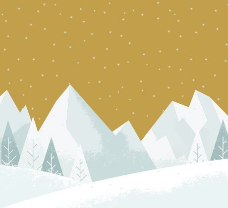 winter mountain graphic