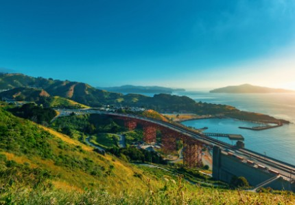 golden gate bridge from marin county