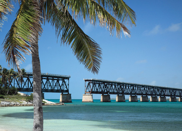 Bahia Honda State Park bridge on water