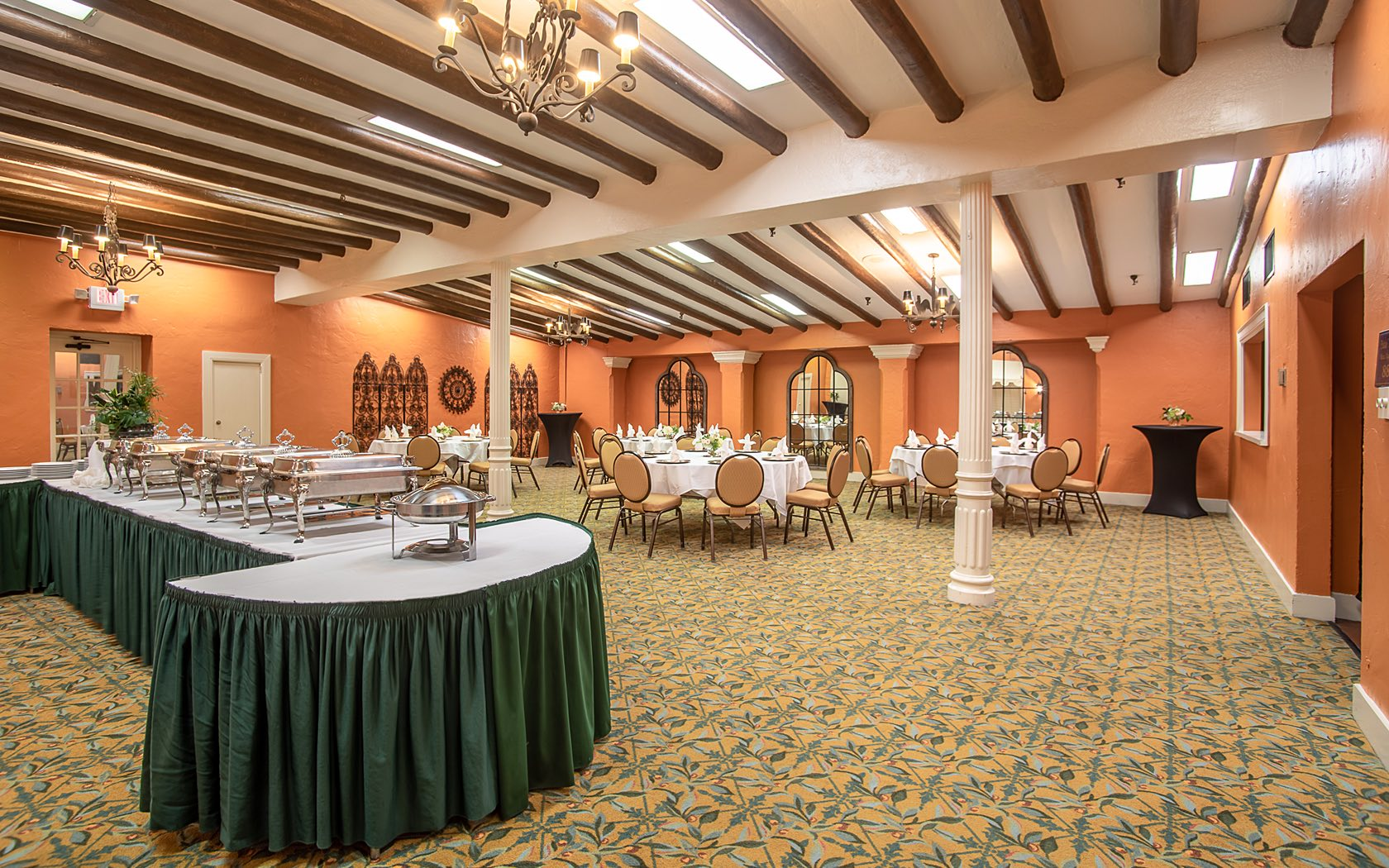 event space set for a banquet