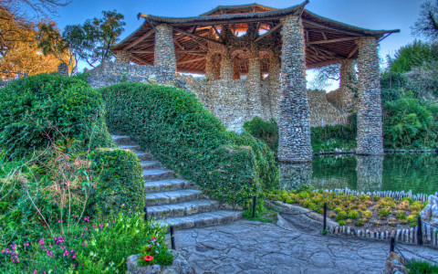 Exterior Photo of Pavilion at San Antonios Japanese Tea Garden