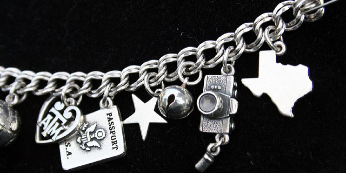 James Avery Silver Bracelet with Assorted Charms