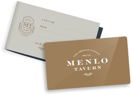 Menlo Tavern Gift Card and Gift Card holder