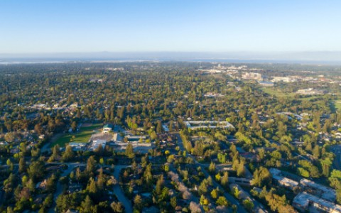 aerial view of menlo park