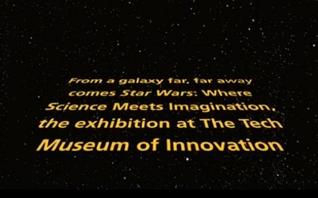 star wars intro themed Museum of science disclaimer
