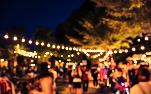 night time garden party