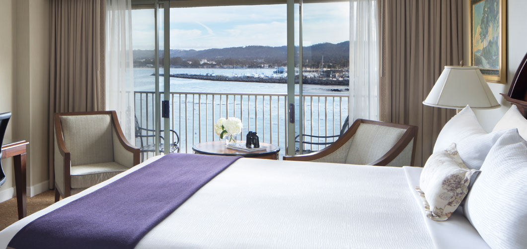 room with view of harbor