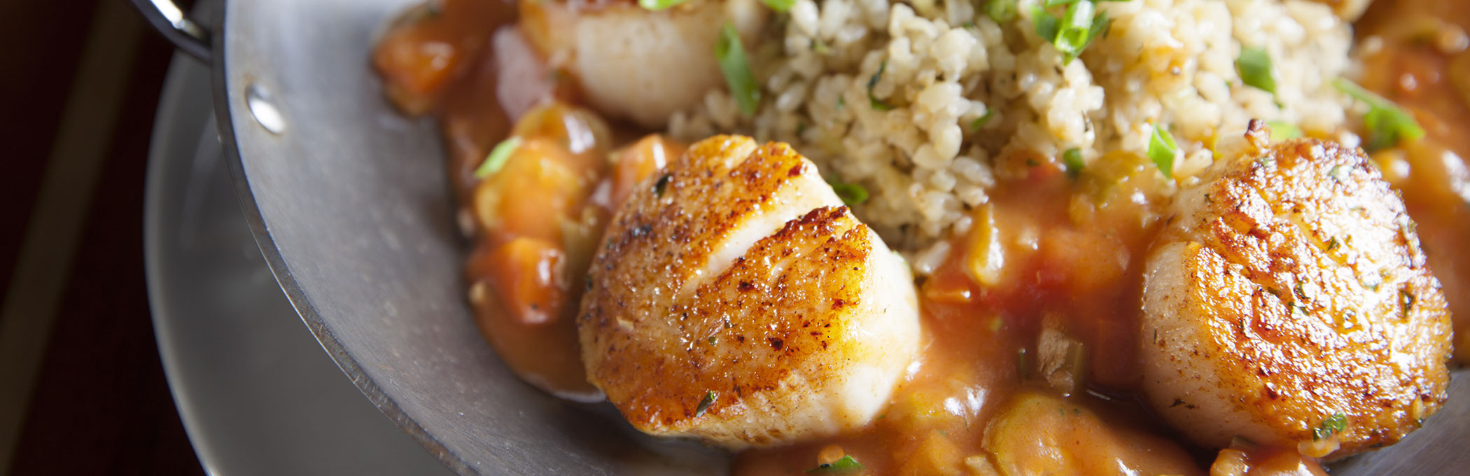 Dish with scallops