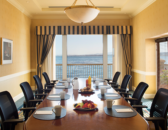 meeting room with ocean view