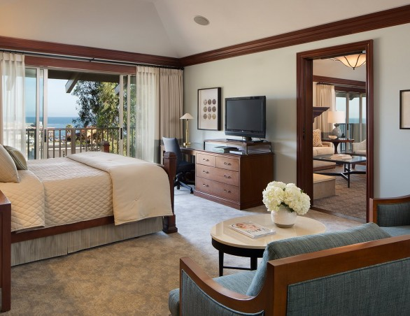 bedroom of cannery row suite