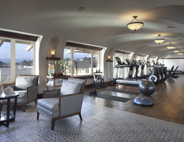 fitness center overlooking property