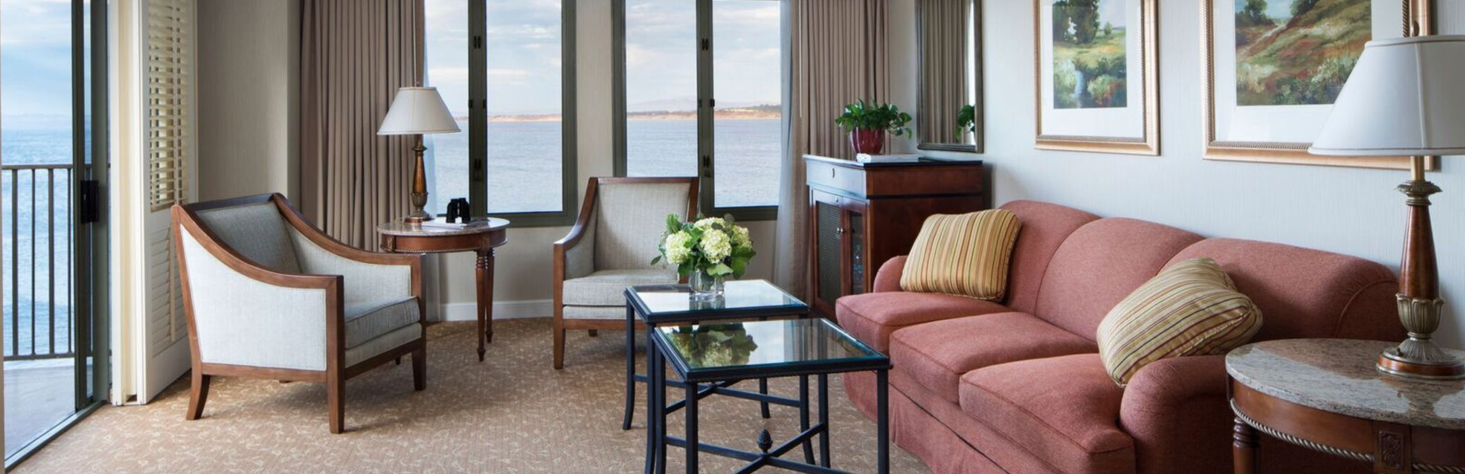 luxury suite living room header monterey