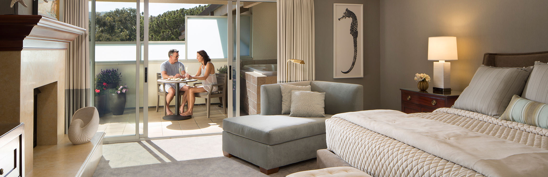 luxury suite spa terrace header monterey