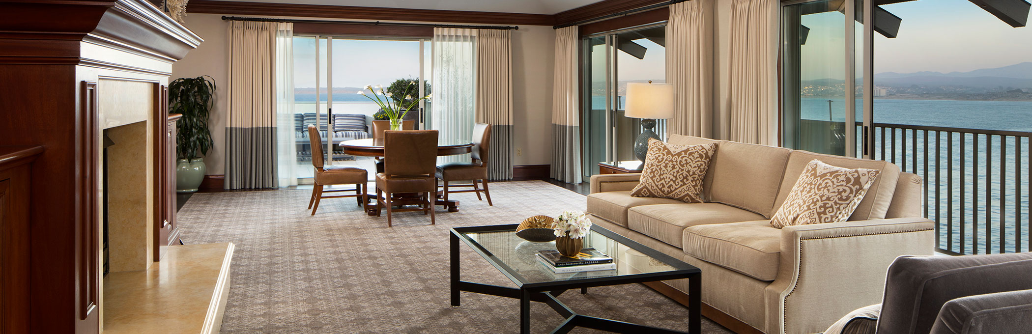 luxury suite with ocean view overlooking the ocean