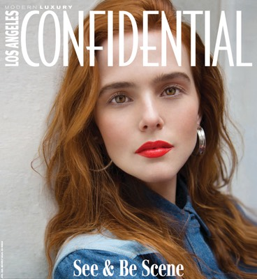 LA Confidential magazine cover with woman with red hair