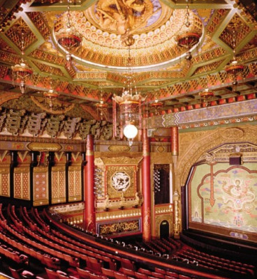 inside an opulant theatre