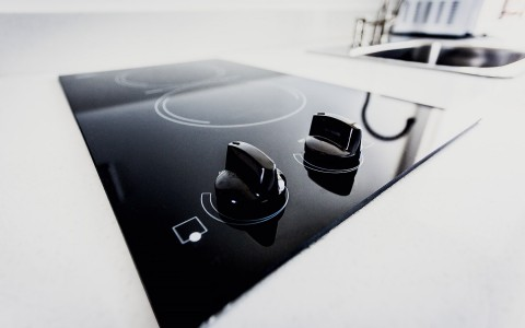 detail shot of electric double burner