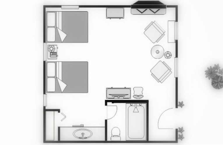 floorplan for double cottage room