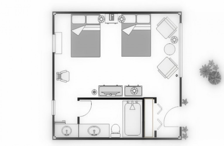 floorplan for over sized double