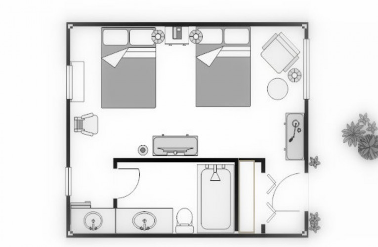 floorplan for standard double