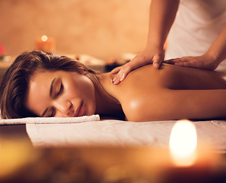 Women receiving a massage Image
