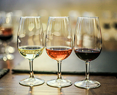 3 wine glasses for wine tasting Image