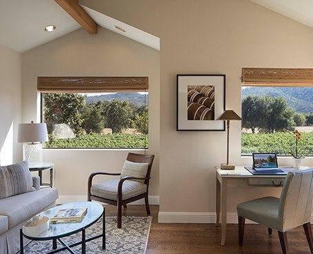 Bella Vista Suite's interior shot with view to the vineyard