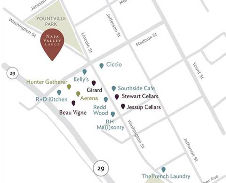 map of downtown yountville Image