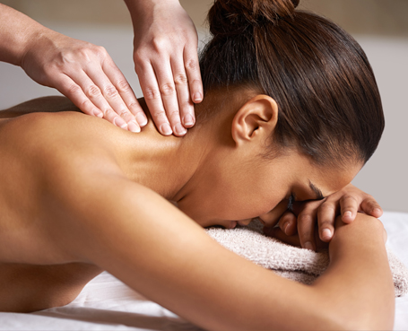 woman receiving neck massage  Image