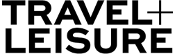 travel and leisure black text logo
