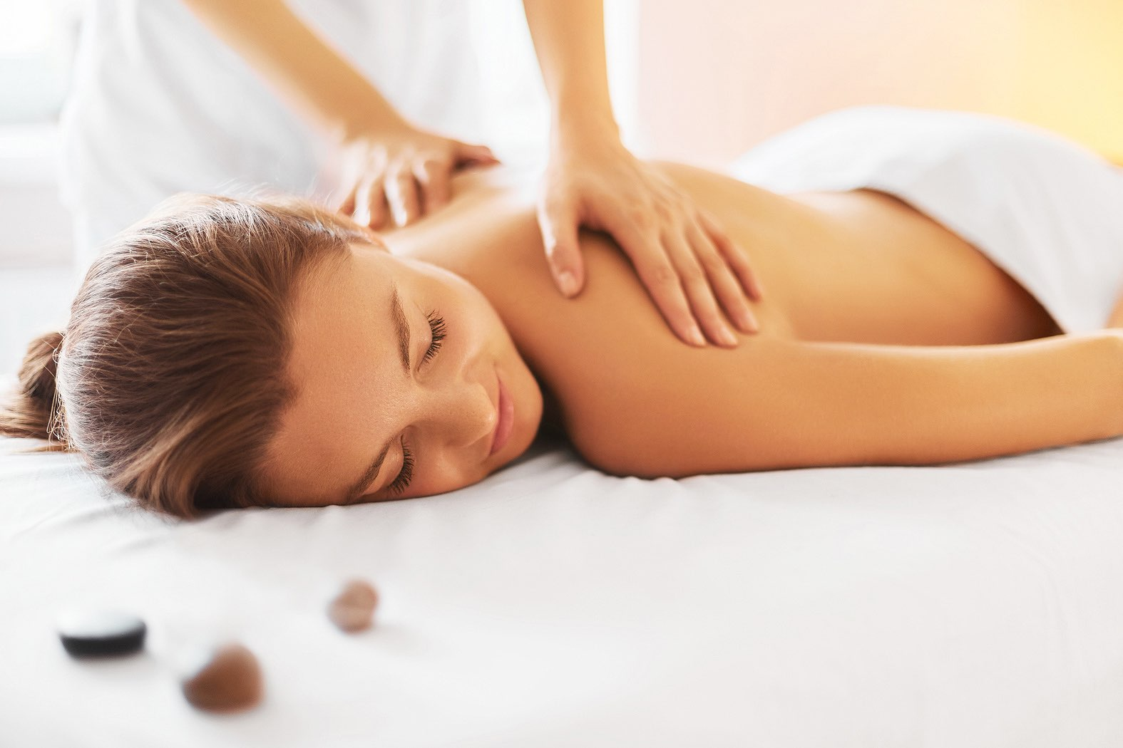 woman getting a masssage