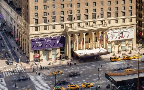 Exterior View of Hotel Pennsylvania