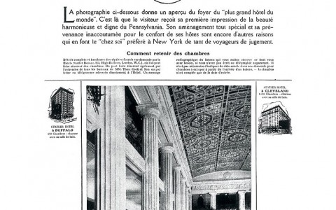 Hotel Pennsylvania Mentioned in an Old Newspaper