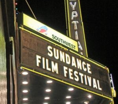 Marquee of Park Citys Egyptian Theater Advertising the Sundance Film Festival