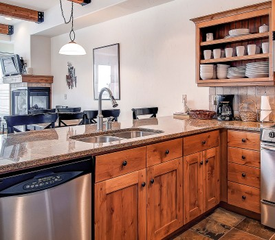 photo of townhome kitchen
