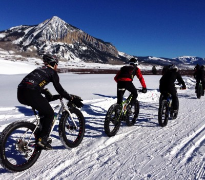 snow bike tour