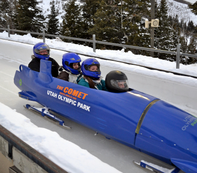The Comet Bobsled at Utah Olympic Park in Park City