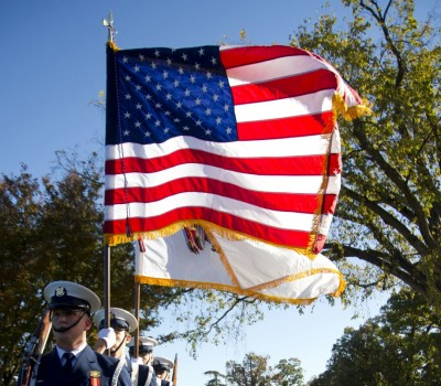 Veterans Day Honor Guard with Flag